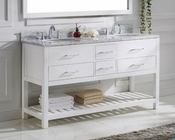 Caroline Estate White 60in Vanity by Virtu USA VU-MD-2260-CAB-WH