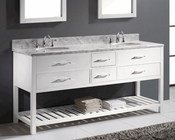 Caroline Estate White 72in Vanity by Virtu USA VU-MD-2272-CAB-WH