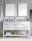 Caroline Estate White Dbl Bathroom Set by Virtu USA VU-MD-22-WMRO-WH