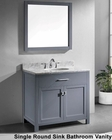 Caroline Grey Single Bathroom Set by Virtu USA VU-MS-2036-WM-GR