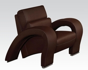 Chair in Chocolate Irisa by Acme Furniture AC51737
