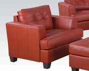 Chair Platinum Red by Acme Furniture AC15102B
