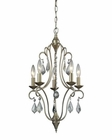 ELK Chandette 5 Light Chandelier in Aged Silver EK-31804-5
