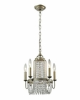 ELK Chandette 5 Light Chandelier in Aged Silver EK-31805-5