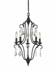 ELK Chandette 5 Light Chandelier in Oil Rubbed Bronze EK-31814-5