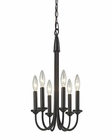 ELK Chandette 6 Light Chandelier in Oil Rubbed Bronze EK-31813-6
