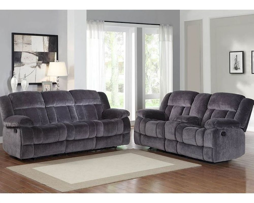 Charcoal Reclining Sofa Set Laurelton By Homelegance El