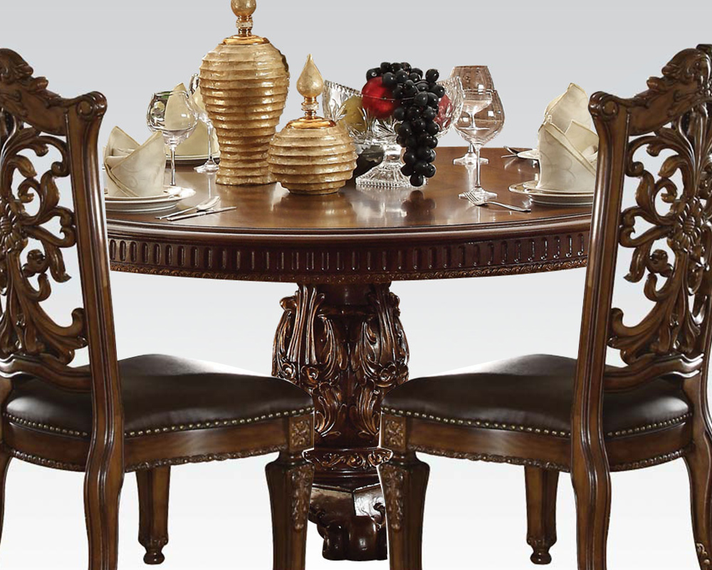 Cherry Dining Set Vendome By Acme Furniture Ac62015set