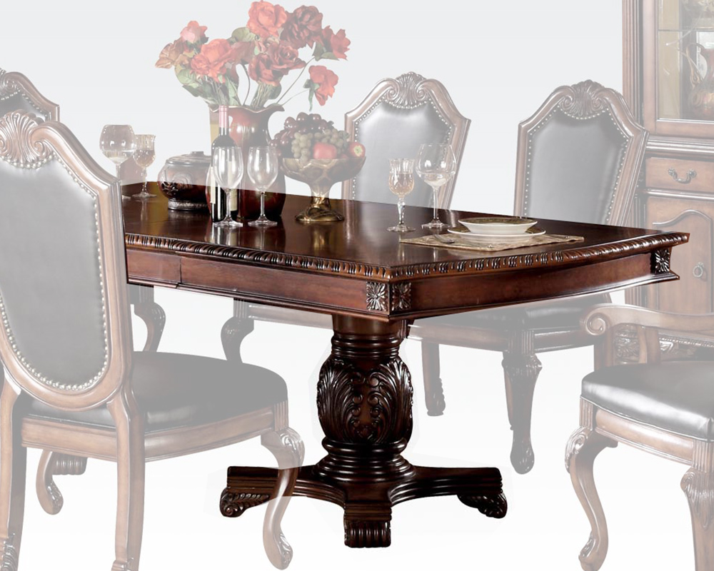 Cherry dining table chateau de ville by acme furniture ac04075 for Furniture ville