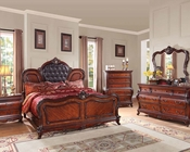 Cherry Finish Bedroom Set Dorothea by Acme Furniture AC20590SET