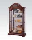 Cherry Finish Curio by Acme Furniture AC90054