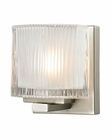 ELK Chiseled Glass Collection 1 light bath in Brushed Nickel EK-11630-1