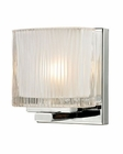 ELK Chiseled Glass Collection 1 light bath in Polished Chrome EK-11620-1