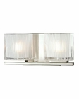 ELK Chiseled Glass Collection 2 light bath in Brushed Nickel EK-11631-2