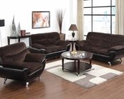 Chocolate Champion Sofa Set Wilona by Acme Furniture AC51275SET