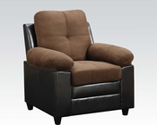 Chocolate Finish Chair Santiana by Acme AC51367