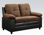 Chocolate Finish Loveseat Santiana by Acme AC51366