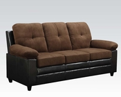 Chocolate Finish Sofa Santiana by Acme AC51365