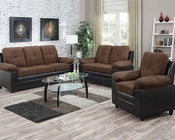 Chocolate Finish Sofa Set Santiana by Acme AC51365SET