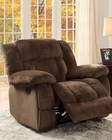 Chocolate Reclining Glider Chair Laurelton by Homelegance EL-9636-1