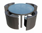 Clara Outdoor Patio 5pc Dining Set 44P7025