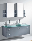 Clarissa 61in Grey Double Bathroom Set by Virtu USA VU-MD-435-GR