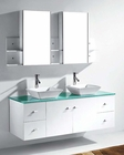 Clarissa 61in White Double Bathroom Set by Virtu USA VU-MD-435-WH