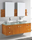 Clarissa Double Bathroom Set in Honey Oak by Virtu USA VU-MD-457-HO
