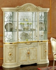 Classic 4 Door China Cabinet in Ivory Finish Made in Italy 33D25