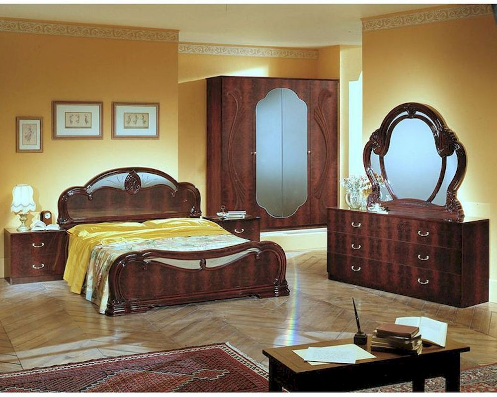Classic 5 Piece Bedroom Set Made In Italy 44b002set