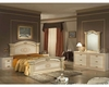 Classic Beige Finish Bedroom Set Made in Italy 44B5311