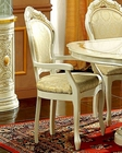 Classic Dining Arm Chair in Ivory Made in Italy 33D23 (Set of 2)