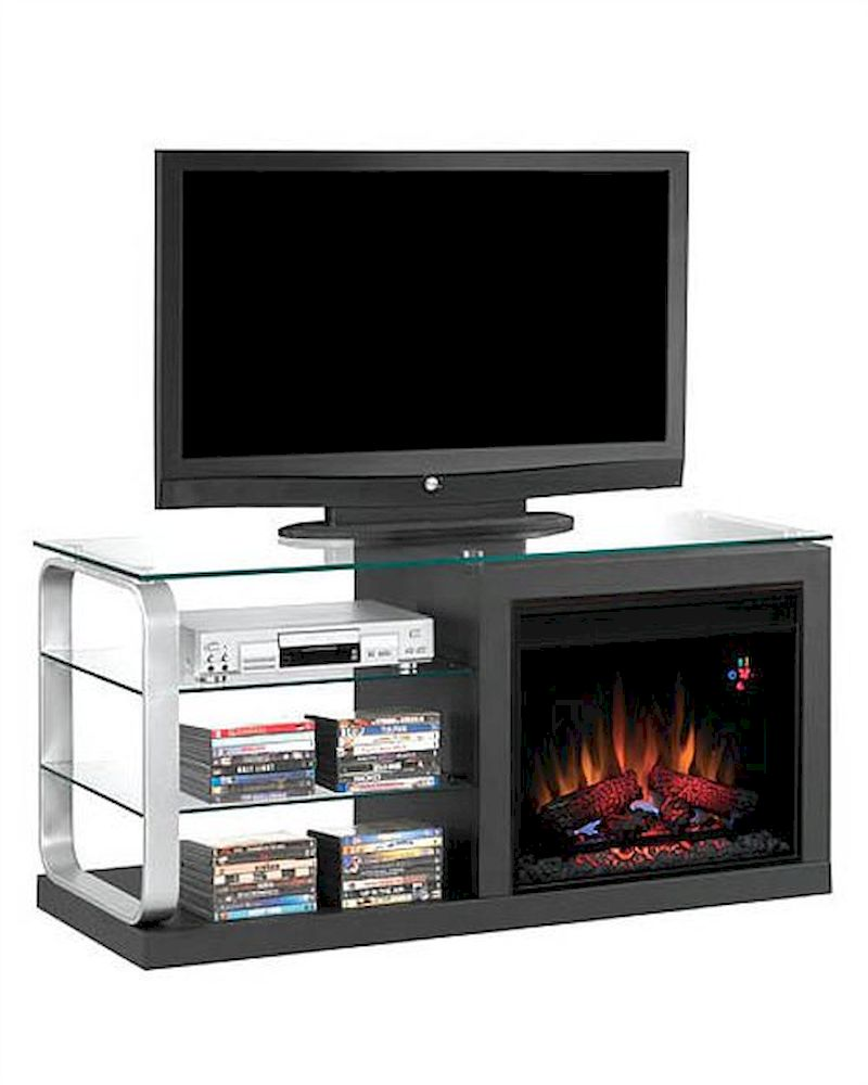 classic flame 52 fireplace tv console luxe ts 23mm9501 b974. Black Bedroom Furniture Sets. Home Design Ideas