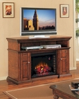 "Classic Flame 60"" Burnished Walnut TV Console Pasadena TS-28MM468-W502"