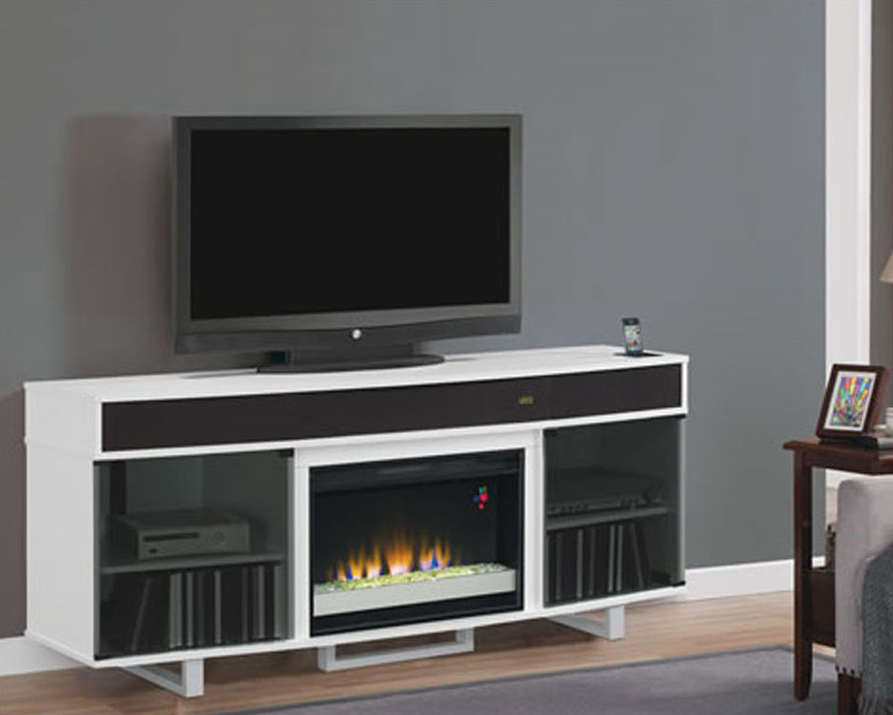 flame fireplace tv console enterprise in black ts 26mms9616 n