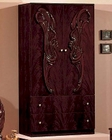 Classic Mahogany Finish 2 Door Wardrobe Made in Italy 44B8417M