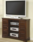 Classic Media Console with Doors and Shelves CO700636