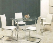 Clear Glass Top Dining Set OL-8