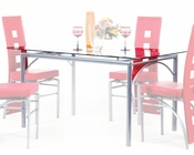 Clear Glass Top Dining Table Kathie by Acme Furniture AC70740