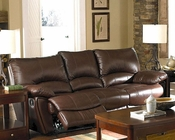 Clifford Brown Leather Double Reclining Sofa CO600281