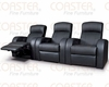 Coaster - 3 PC Home Theater Seating Set in Black CO-600001s