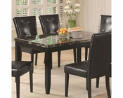 Coaster Anisa Dining Table w/ Black Faux Stone Top CO-102791