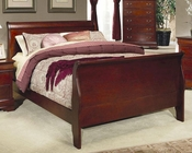 Coaster Louis Philippe Bed in Cherry CO-200431BED