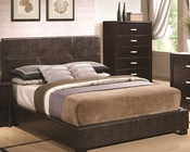 Coaster Bed w/ Vinyl Padded Headboard Andreas CO-202470BED
