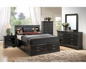 Coaster Louis Philippe Bedroom Set w/ Storage  in Black CO-201079Set