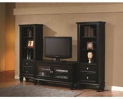Coaster Black Entertainment Wall Unit CO-702250-1Set