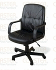 Coaster Black Leather Office Chair CO-4228