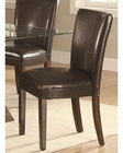 Coaster Brown Leather Chair Nessa CO-103053 (Set of 2)