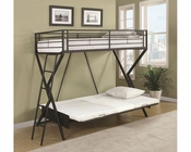 Coaster Bunks Convertible Futon Loft Bed w/ Futon Mattress CO-460020