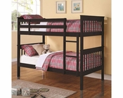 Coaster Bunks Twin Over Twin Bunk Bed in Black CO-460234